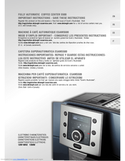 delonghi perfecta esam 5500 instructions