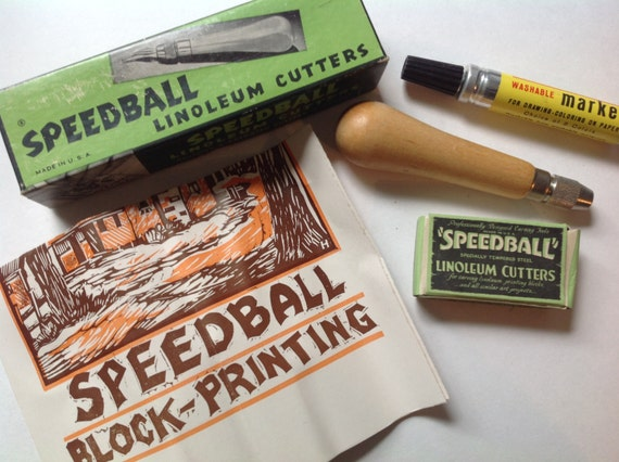 speedball linoleum cutter instructions