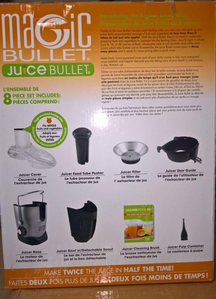 magic bullet juice bullet instructions