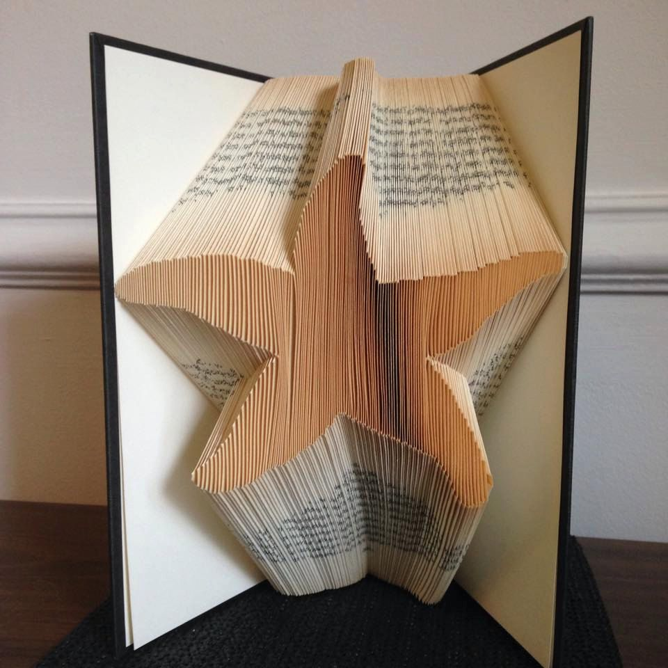 folded paper sculpture instructions