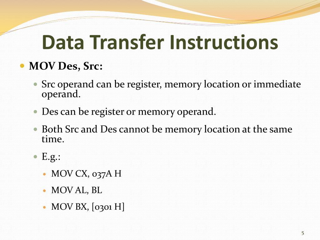 register and instruction set