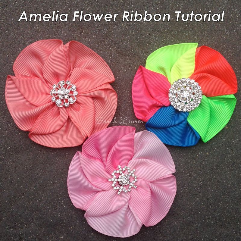 ribbon flower bow instructions