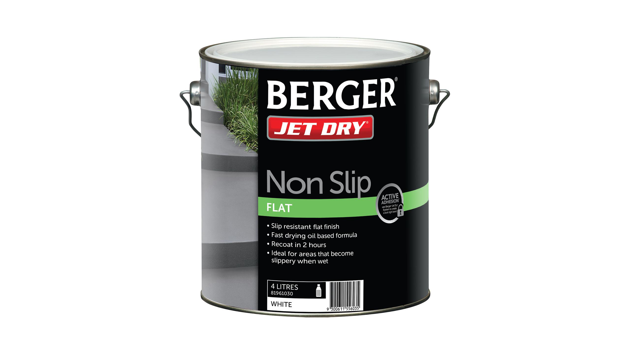 berger jet dry instructions