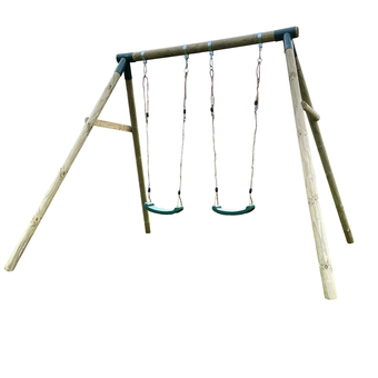 plum marmoset wooden double swing set instructions
