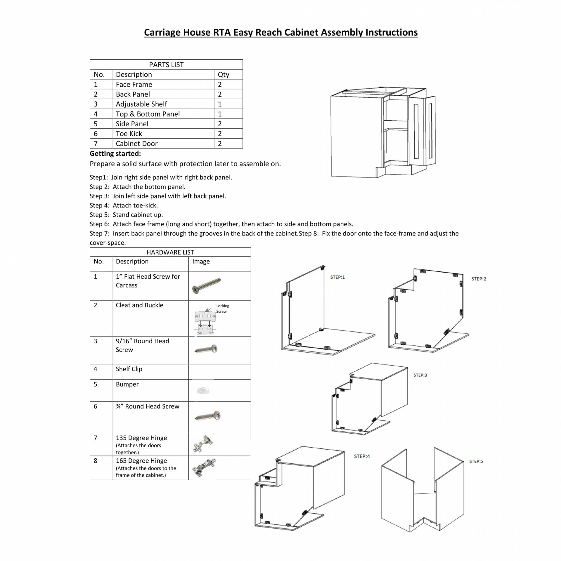 product assembly instructions instructions for display