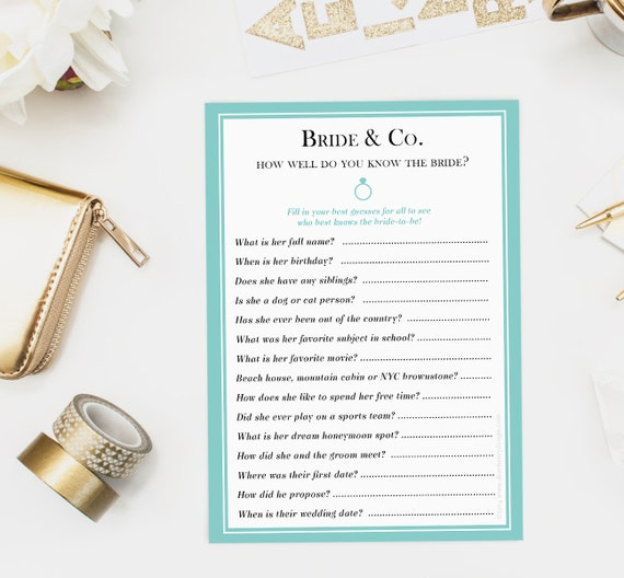 how well do you know the bride game instructions