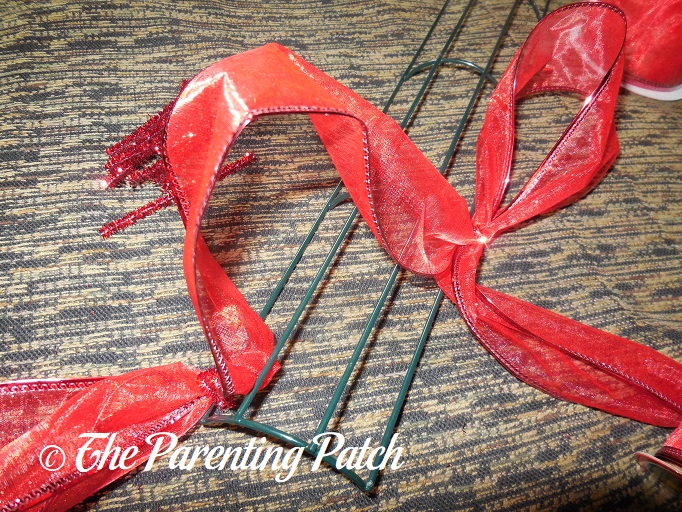 candy cane mesh wreath instructions