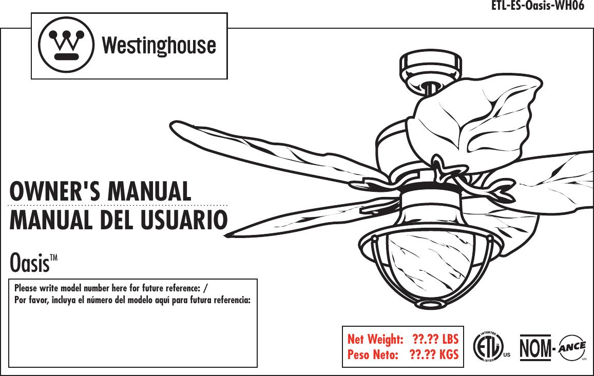 westinghouse ld505e operating instructions
