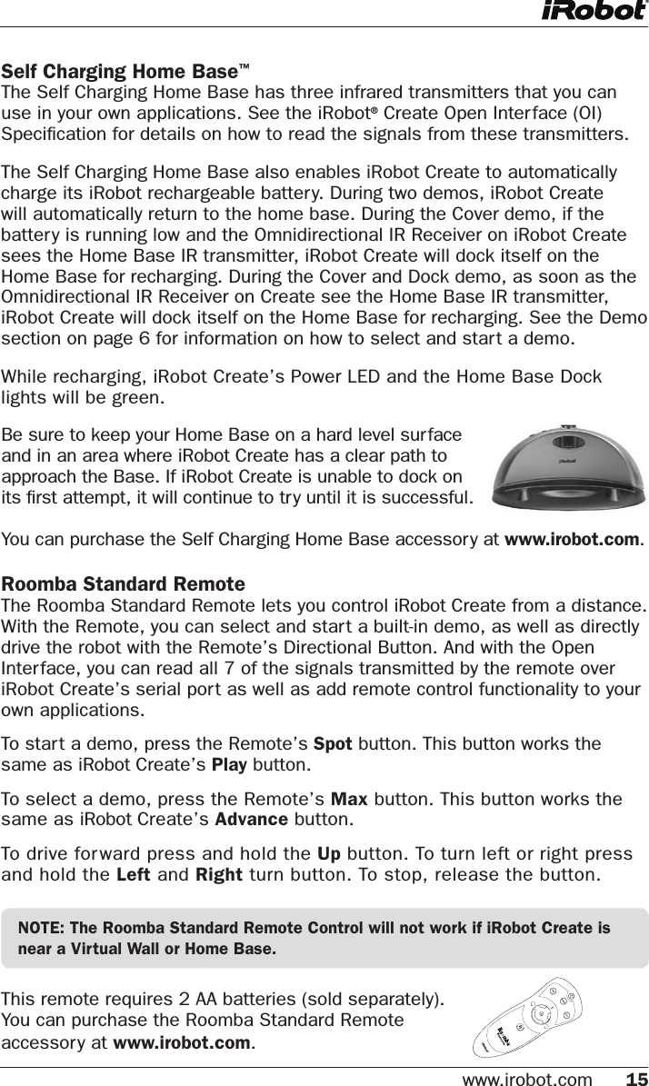 roomba 550 instruction manual