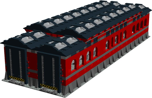 lego engine shed instructions