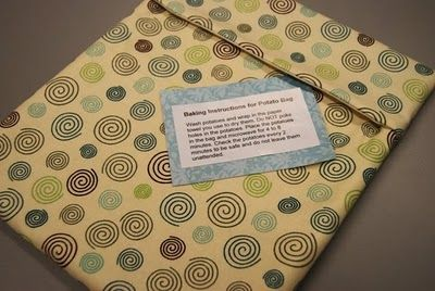 baked potato bag pattern and instructions