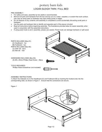 boori king parrot sleigh cot instructions