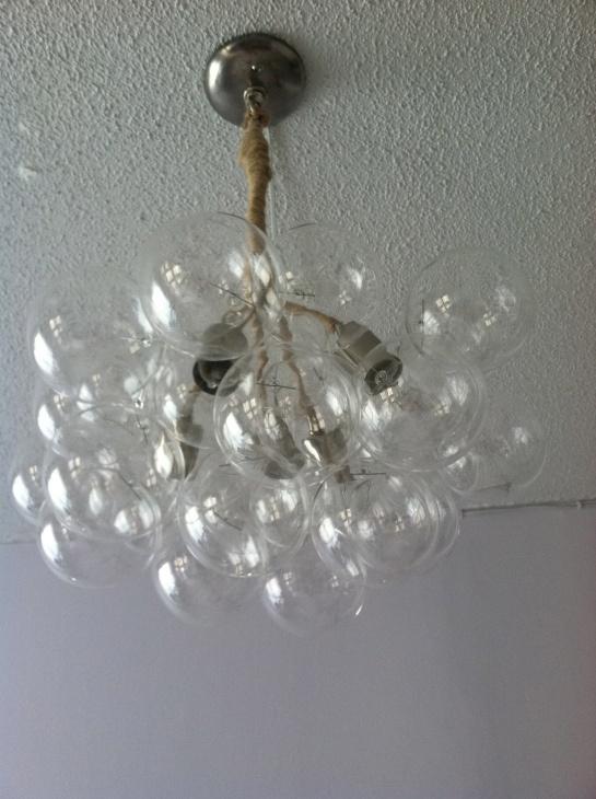 bubble chandelier diy instructions