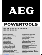 instructions for using aeg sbe 630 r