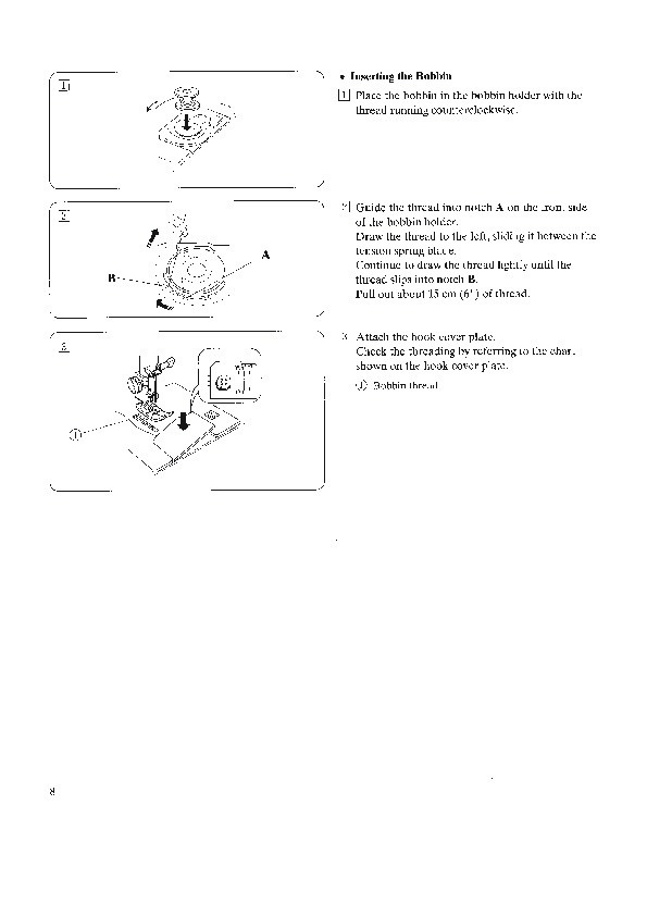 janome dc3050 instruction book