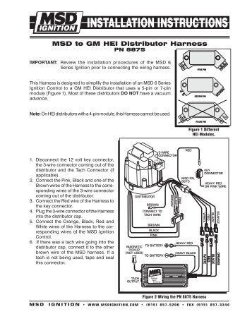 msd hei distributor instructions