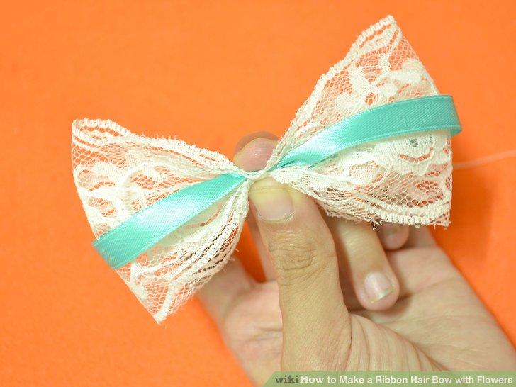 ribbon flower bow instructions
