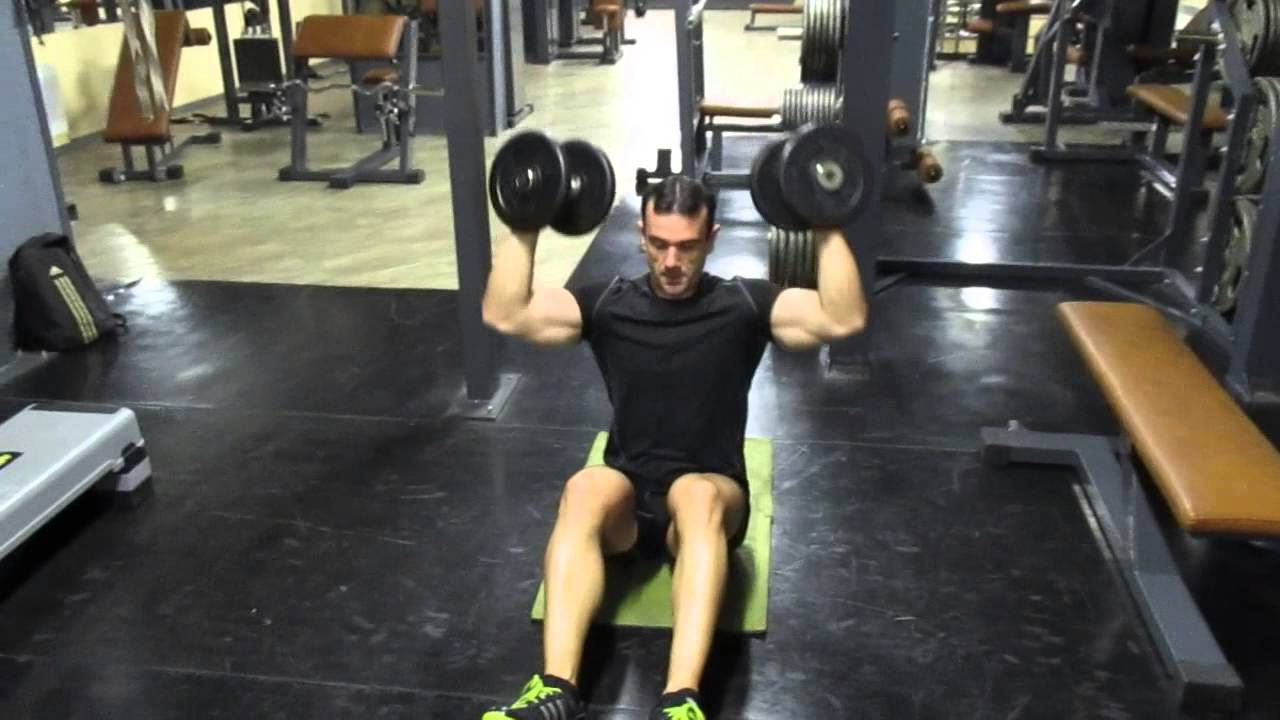 seated dumbbell shoulder press instructions